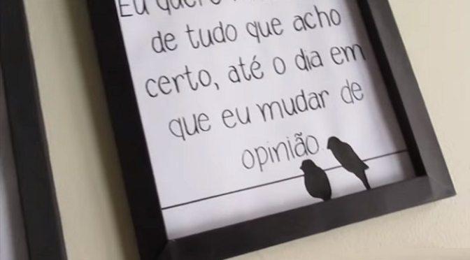 COMO FAZER MOLDURAS DE QUADRO COM PAPEL CARTÃO