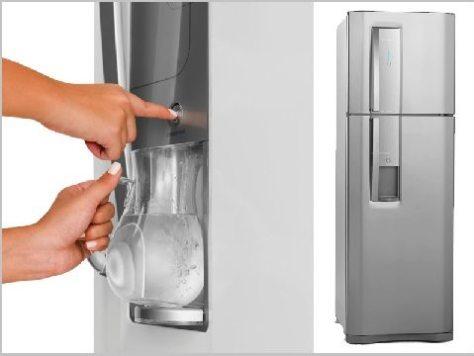 refrigerador dw42x com dispenser agua - electrolux