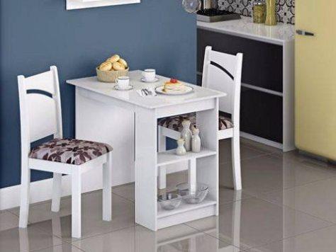 Conjunto Mesa Duda 2 Cadeiras Melissa Cimol Branco floral Bordô - americanas