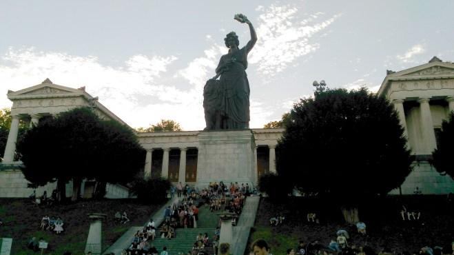 Estátua da deusa Bavária