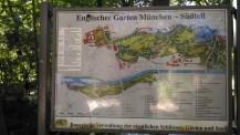 Mapa disponível no Englischer Garten