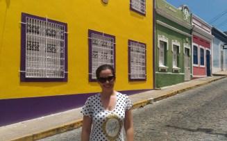 Casas coloridas na Rua de São Bento