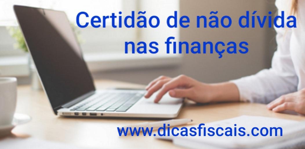 Certidão de Não Dívida nas Finanças