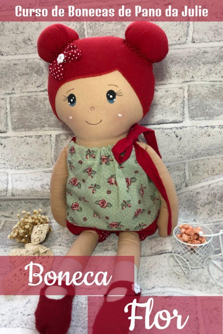 Boneca de Pano - Flor