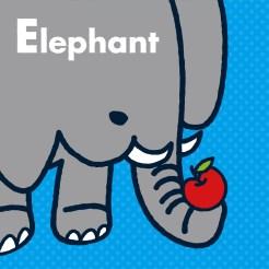 動物イラストシリーズ1 ゾウ