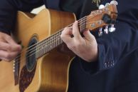 Close up of musician Brendan Bruns
