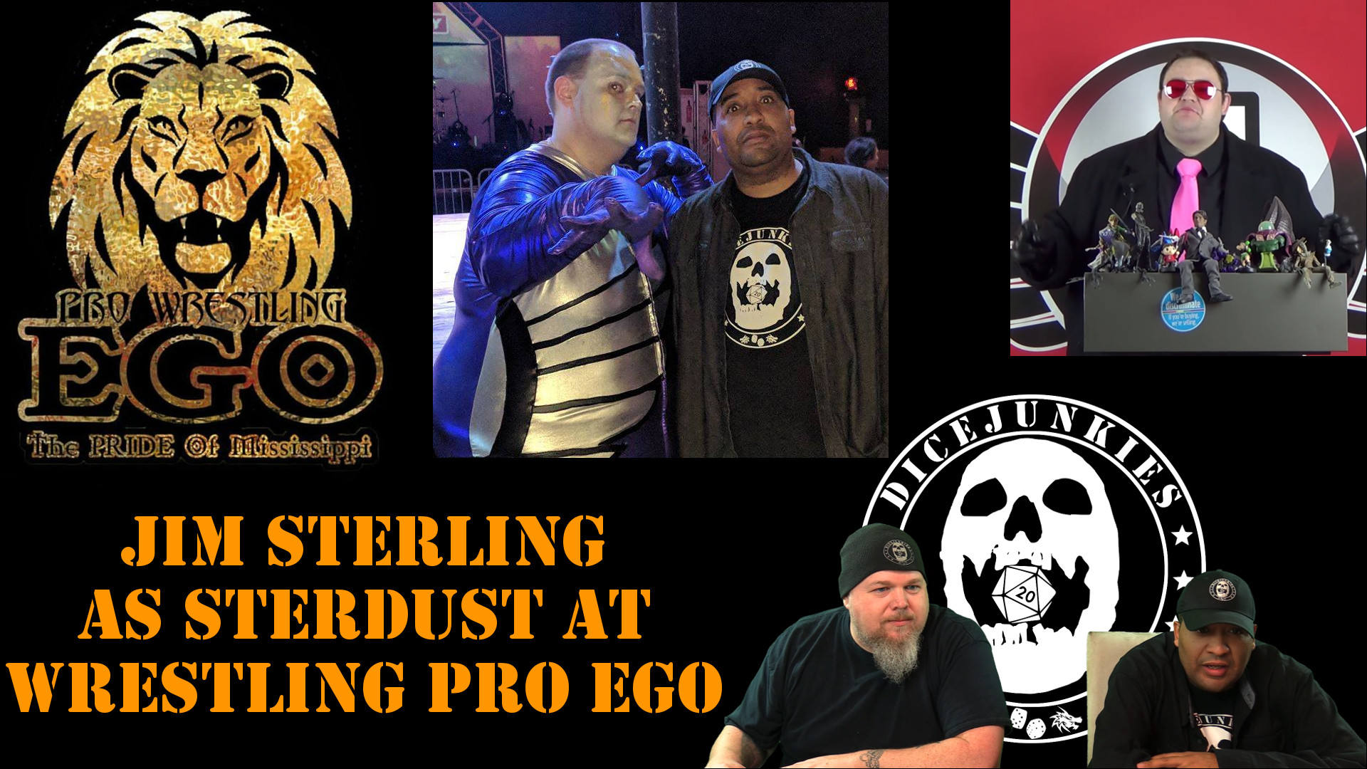 Jim Sterling as Sterdust at Pro Wrestling Ego