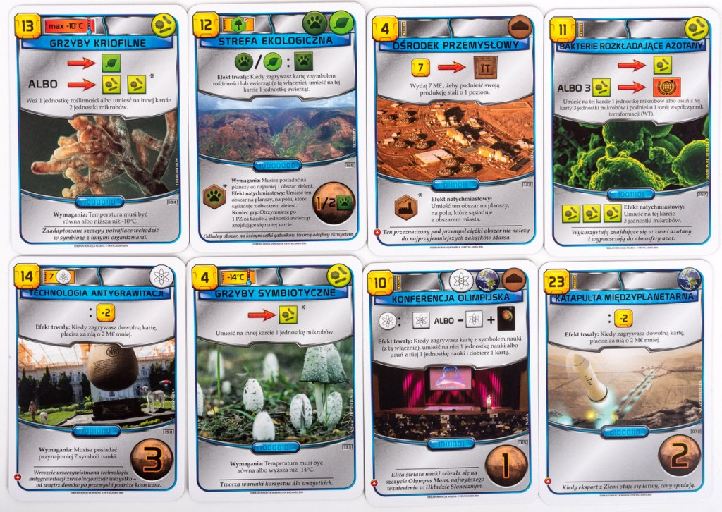 Karty z gry Terraformacja Marsa