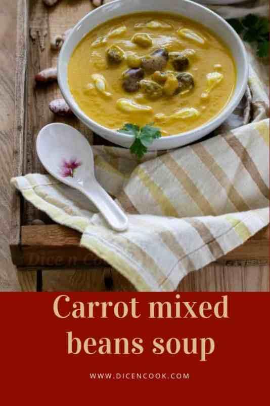 Carrot-mixed-beans-soup