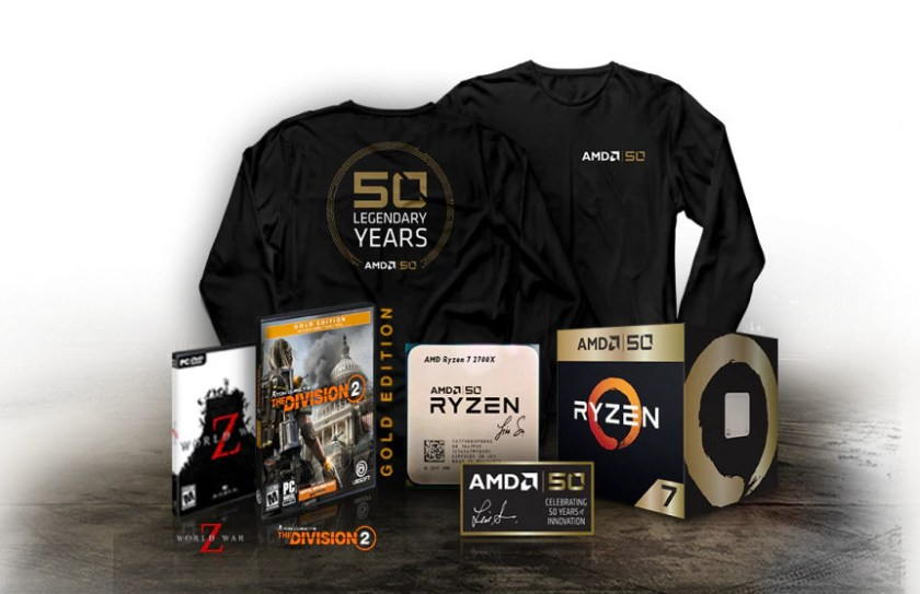 AMD 50th Anniversary Gold Edition Product Pack