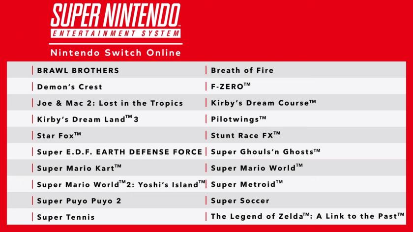 SNES Nintendo Switch