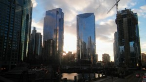 The Ever-Changing Skyline on the Chicago River. (c)2019, JSB*Art. All Rights Reserved.