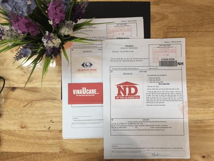 Dấu nhận đơn đăng ký nhãn hiệu