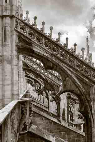 Détail de l'architecture du Duomo de Milan - Italie