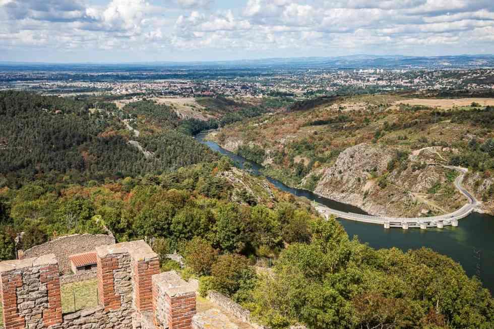 vue sur le barrage de Grangent