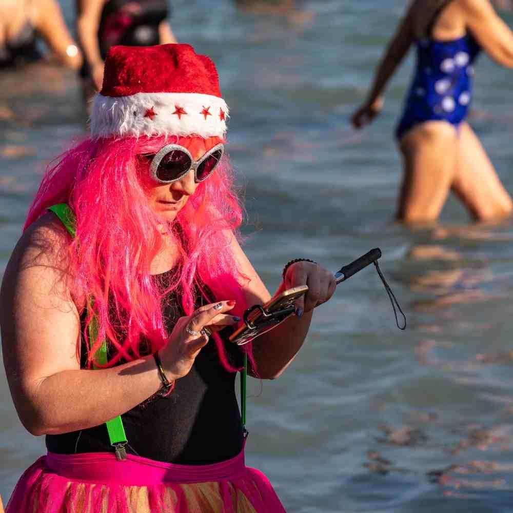 Le bain du jour de l'an 2019 à Antibes - 17