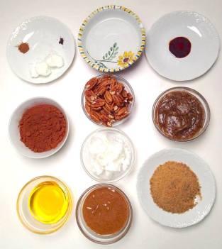 chocolate ganache tortemise en place