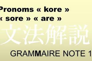 pronoms kore sore are