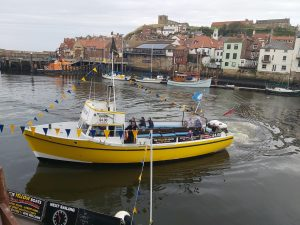 Yellow boat tours Whitby.