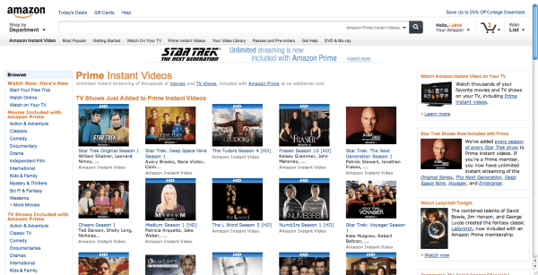 Preview to Amazon's New Website Design and Layout ...