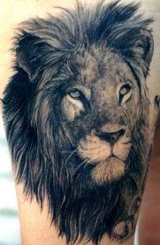 Sample Tat (Lion). Credit menstattooideas.net