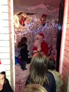 Santa welcomes another guest