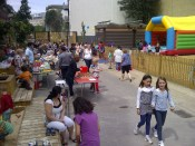 Stalls and bouncy castle