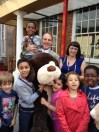 Simon Hughes visited - and drew the raffle and name of the dog
