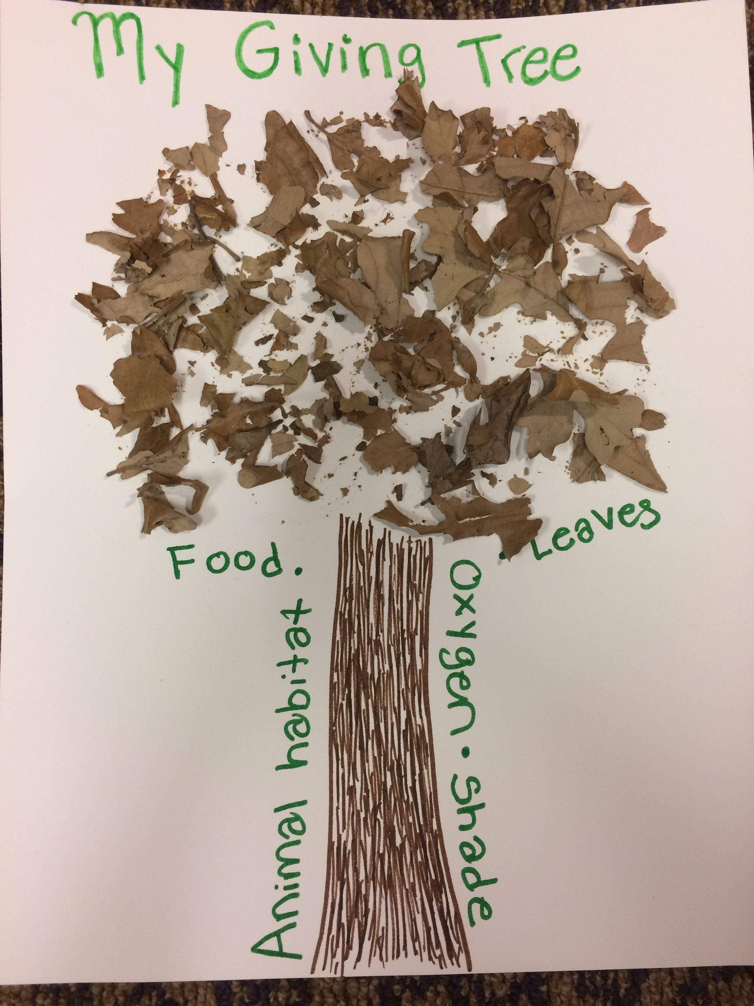 My Giving Tree Craft Dickinson County Conservation Board