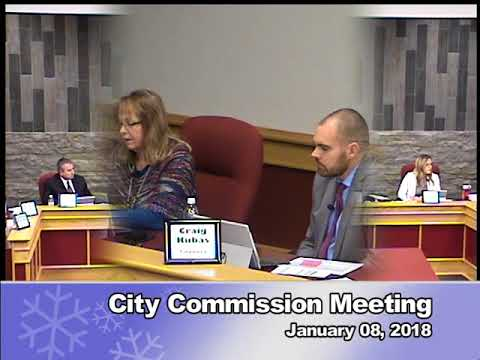 City Commission Meeting – January 08, 2018 – City of Dickinson
