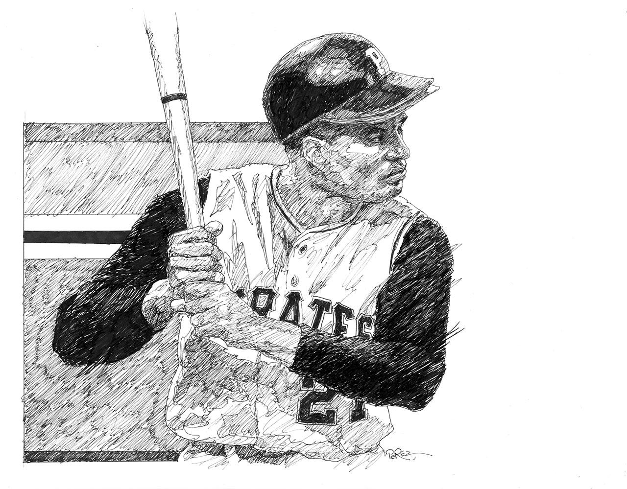 Baseball In Black And White Dick Perez