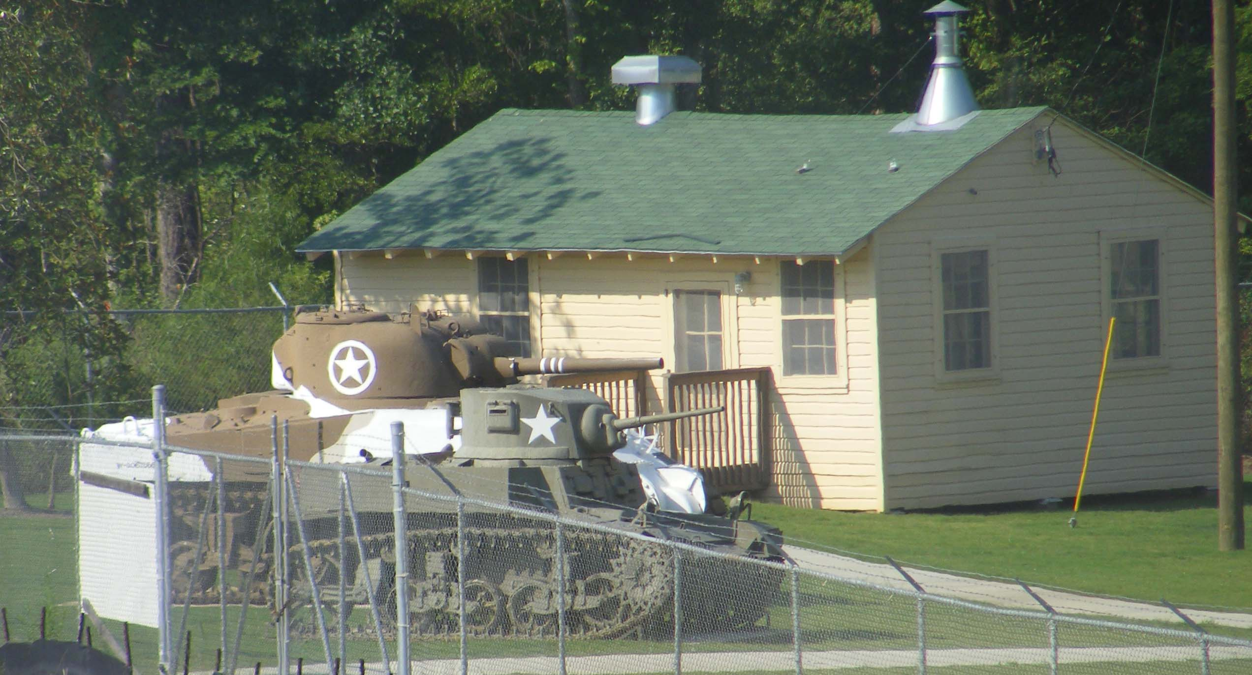 Patton Shack and Tanks
