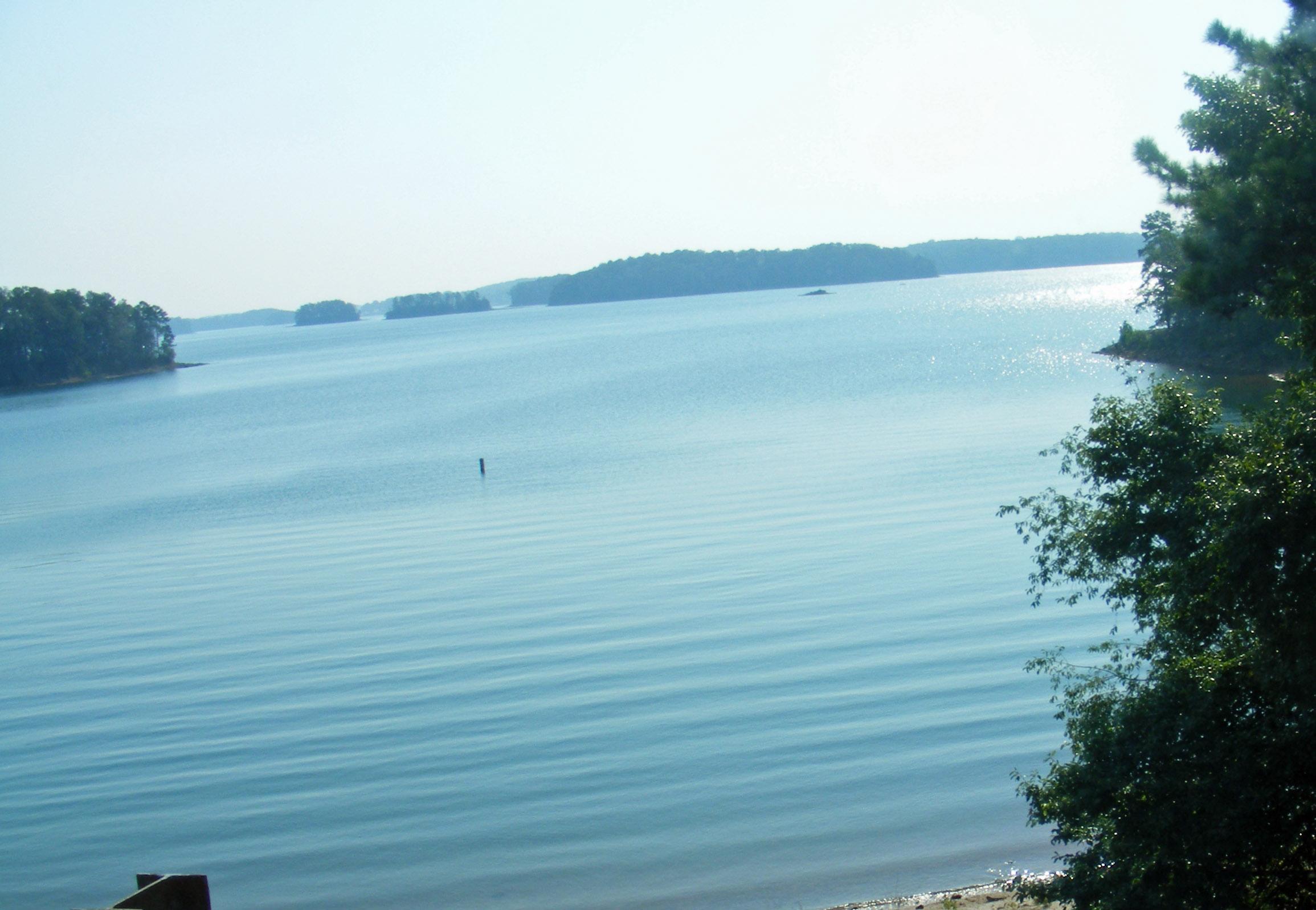 Lake Lanier, view from Buford Dam RD,  Buford, Georgia