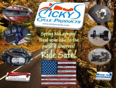 Spring has Sprung! Get the parts your bike deserves! MADE IN THE USA