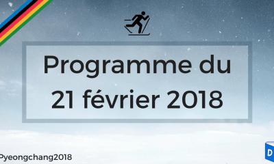 JO 2018 - Programme 21 février