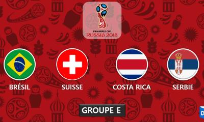 Coupe du monde 2018 - Presentation Groupe E