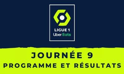 Calendrier Ligue 1 2020-2021 - 9ème journée - Programme et résultats