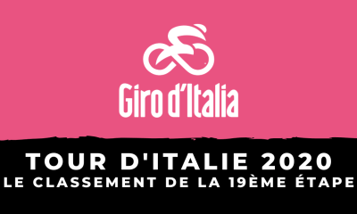 Tour d'Italie 2020 - Le classement de la 19ème étape