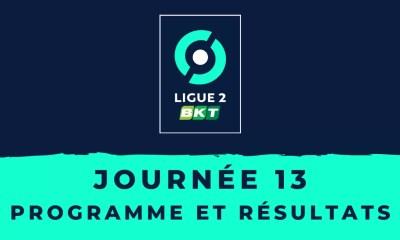 Calendrier Ligue 2 2020-2021 - 13ème journée Programme et résultats
