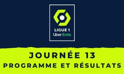 Calendrier Ligue 1 2020-2021 - 13ème journée Programme et résultats