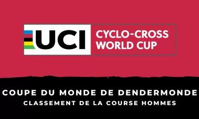Cyclo-cross – Coupe du monde de Dendermonde - Le classement de la course hommes