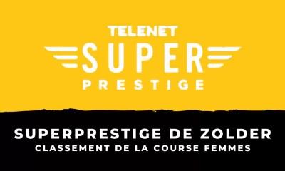 Cyclo-cross - Superprestige de Zolder - Le classement de la course femmes