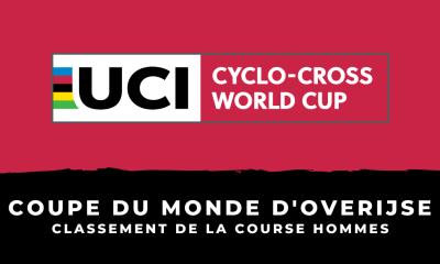 Cyclo-cross - Coupe du monde d'Overijse - Le classement de la course hommes