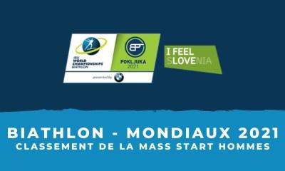 Biathlon - Championnats du monde 2021 - Le classement de la mass start hommes
