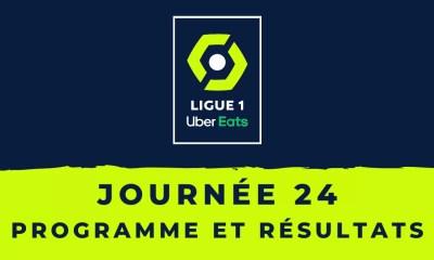 Calendrier Ligue 1 2020-2021 - 24ème journée Programme et résultats