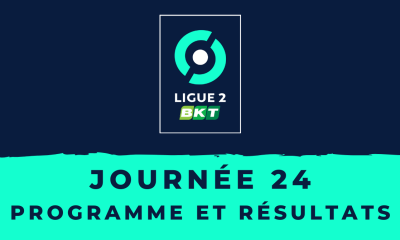 Calendrier Ligue 2 2020-2021 - 24ème journée - Programme et résultats