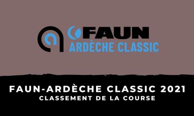 Faun-Ardèche Classic 2021 - Le classement de la course