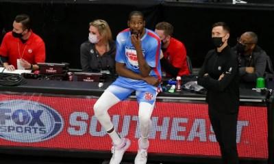 NBA - Cas-contact au Covid-19, Kevin Durant obligé de quitter le terrain en plein match