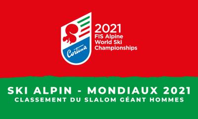 Ski alpin - Championnats du monde 2021 - Le classement du slalom géant hommes