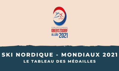Ski nordique - Championnats du monde 2021 - Le tableau des médailles
